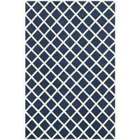 Safavieh Contemporary Handmade Moroccan Dark Blue Wool Rug - 5' x 8'