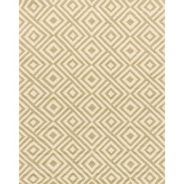 Hand-hooked Indoor/ Outdoor Capri Grey/ Ivory Area Rug (9'3 x 13')