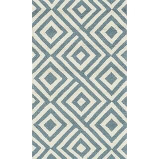 Hand-hooked Indoor/ Outdoor Capri Slate Rug (2'3 x 3'9)