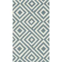 Hand-hooked Indoor/ Outdoor Capri Slate Rug - 2'3 x 3'9