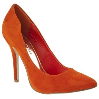 Riverberry Women's 'Axel' Orange Microsuede Pumps