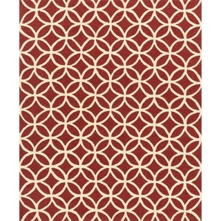 Hand-hooked Indoor/ Outdoor Capri Red Rug (9'3 x 13')