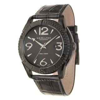 Hamilton Men's 'Jazzmaster' Black Ion-plated Steel Swiss Automatic Watch