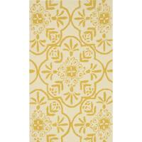 Hand-hooked Indoor/ Outdoor Capri Buttercup Rug - 2'3 x 3'9