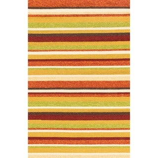 Hand-hooked Indoor/ Outdoor Capri Sunset Rug (3'6 x 5'6)