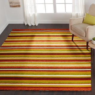 Hand-hooked Indoor/ Outdoor Capri Sunset Rug - 5' x 7'6""