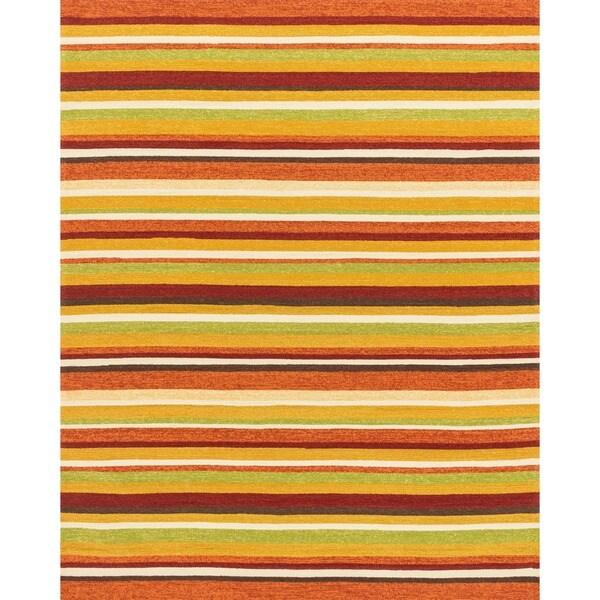Hand-hooked Indoor/ Outdoor Capri Sunset Rug (7'6 x 9'6)
