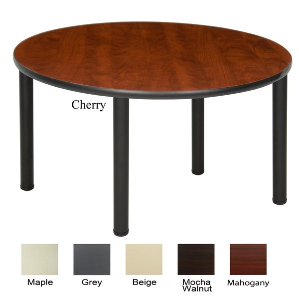 Regency Seating 48 Inch Round Table With Black Post Legs
