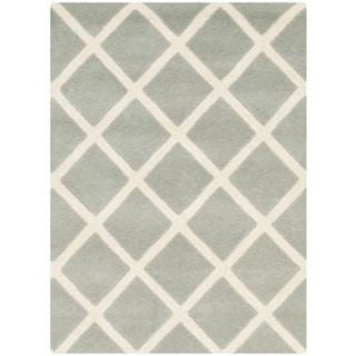 Safavieh Handmade Moroccan Chatham Grey Wool Accent Rug (2' x 3')