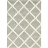 Safavieh Handmade Moroccan Chatham Grey Wool Accent Rug - 2' X 3'