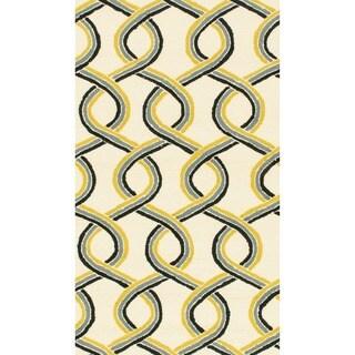 Hand-hooked Indoor/ Outdoor Capri Multi Rug (2'3 x 3'9)