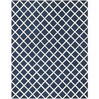 Safavieh Handmade Moroccan Chatham Dark Blue Wool Area Rug - 8' x 10'