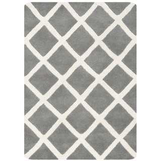 Safavieh Handmade Moroccan Chatham Dark Grey Wool Accent Rug (2' x 3')