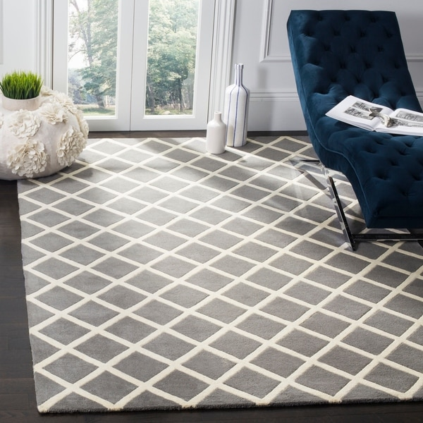 Safavieh Contemporary Handmade Moroccan Dark Grey Wool Rug - 8' x 10'