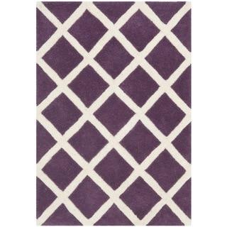 Safavieh Handmade Moroccan Chatham Purple Wool Rug (2' x 3')