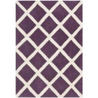 Safavieh Handmade Moroccan Chatham Purple Wool Rug (2' x 3') - 2' x 3'