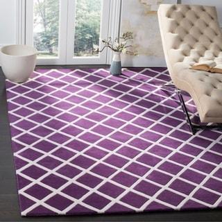 Safavieh Handmade Moroccan Chatham Purple Wool Rug (6' x 9')