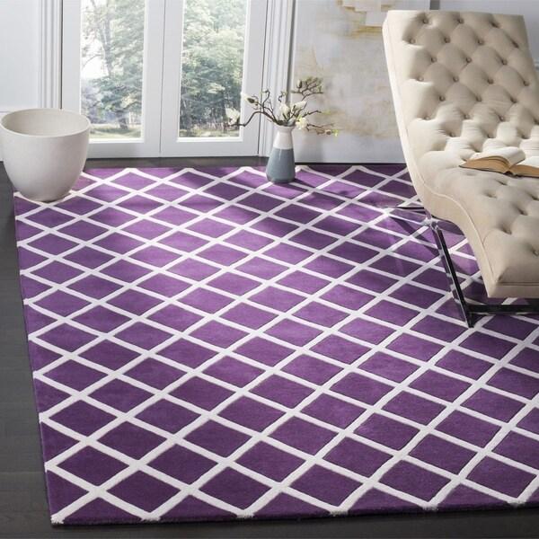 Safavieh Handmade Moroccan Chatham Purple Wool Rug (8' x 10')