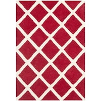 Safavieh Handmade Moroccan Chatham Red Wool Rug - 2' X 3'