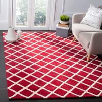 Safavieh Handmade Moroccan Chatham Red Wool Rug - 8' x 10'