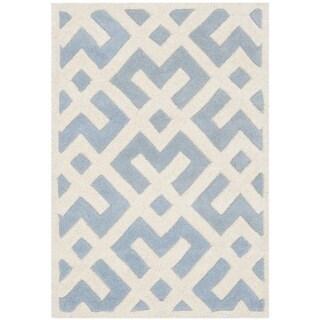 Safavieh Handmade Moroccan Chatham Blue Wool Accent Rug (2' x 3')