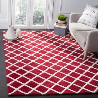 Safavieh Handmade Moroccan Chatham Red Wool Rug (7' Square)