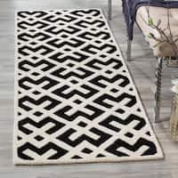 "Safavieh Handmade Contemporary Moroccan Ivory Wool Rug - 2'3"" x 7'"