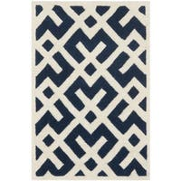 Safavieh Handmade Moroccan Chatham Dark Blue Wool Rug - 2' x 3'