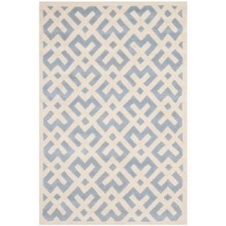 Safavieh Handmade Moroccan Chatham Blue Wool Rug (5' x 8')