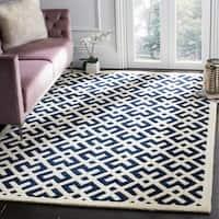 Safavieh Handmade Moroccan Dark Blue Wool Area Rug (6' x 9') - 6' x 9'