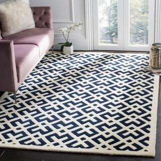 Safavieh Handmade Moroccan Dark Blue Wool Area Rug (8' x 10')