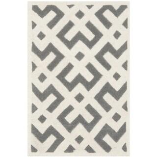 Safavieh Handmade Moroccan Dark Grey Wool Accent Rug (2' x 3')