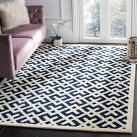 Safavieh Handmade Moroccan Dark Blue/Ivory Wool Rug - 4' x 6'