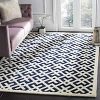 Safavieh Handmade Moroccan Chatham Dark Blue Wool Area Rug - 7' x 7' Square
