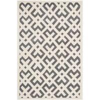 Safavieh Chatham Handmade Moroccan Dark Gray/ Ivory Wool Rug - 6' x 9'