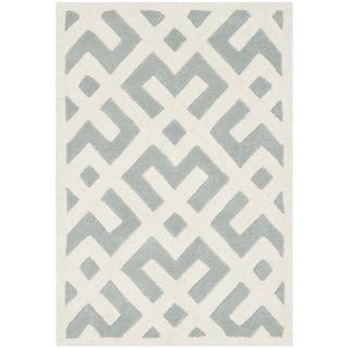 Safavieh Modern Handmade Moroccan Grey Wool Rug (2' x 3')