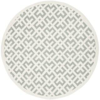 Safavieh Handmade Contemporary Moroccan Grey Wool Rug (7' round)