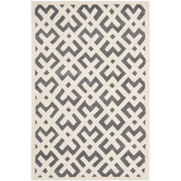Safavieh Handmade Moroccan Chatham Dark Grey Wool Area Rug - 8' x 10'