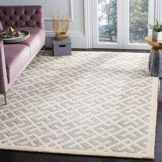 Safavieh Handmade Moroccan Chatham Gray/ Ivory Wool Rug (4' x 6')