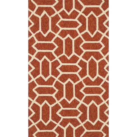Handmade Indoor/ Outdoor Capri Rust Rug - 2'3 x 3'9