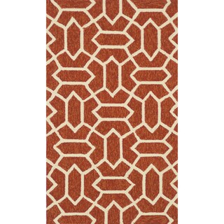 Handmade Indoor/ Outdoor Capri Rust Rug - 2'3 x 3'9