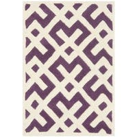 Safavieh Handmade Moroccan Purple Indoor Wool Rug - 2' X 3'