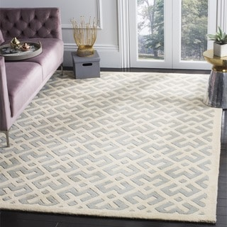 Safavieh Handmade Moroccan Chatham Grey Wool Rug (7' Square)