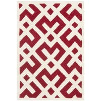 Safavieh Handmade Moroccan Chatham Red Wool Accent Rug - 2' X 3'