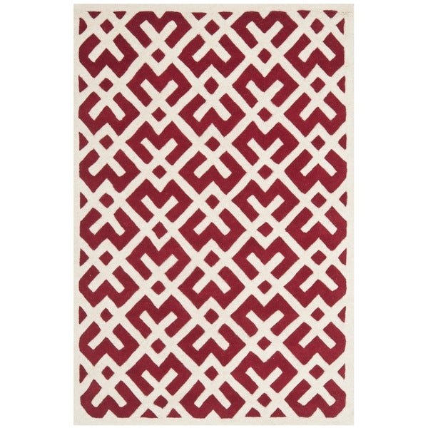 Safavieh Contemporary Handmade Moroccan Red Wool Rug (8' x 10')