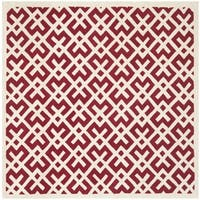 Safavieh Large Handmade Moroccan Red Wool Rug - 7' x 7' Square