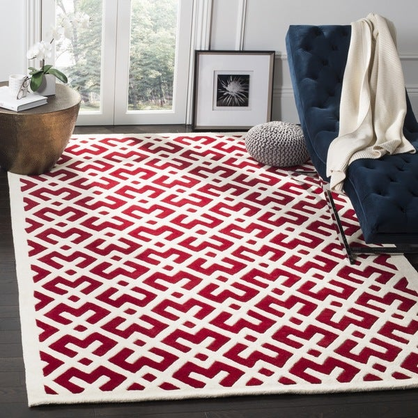Safavieh Large Handmade Moroccan Red Wool Rug 7 X27
