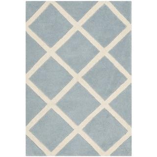 Safavieh Handmade Moroccan Blue Geometric Pattern Wool Rug (2' x 3')