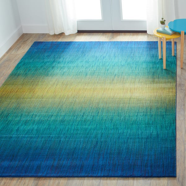 Skye Monet Waterfall Rug 7 7 X 10 5 Free Shipping