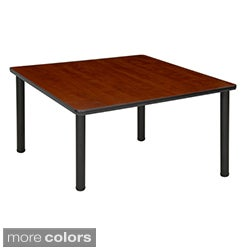 Regency Seating 48-inch Square Table with Black Post Legs